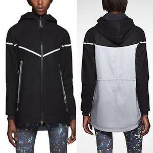 Nike Women's Reflective Black Wool Hooded Jacket